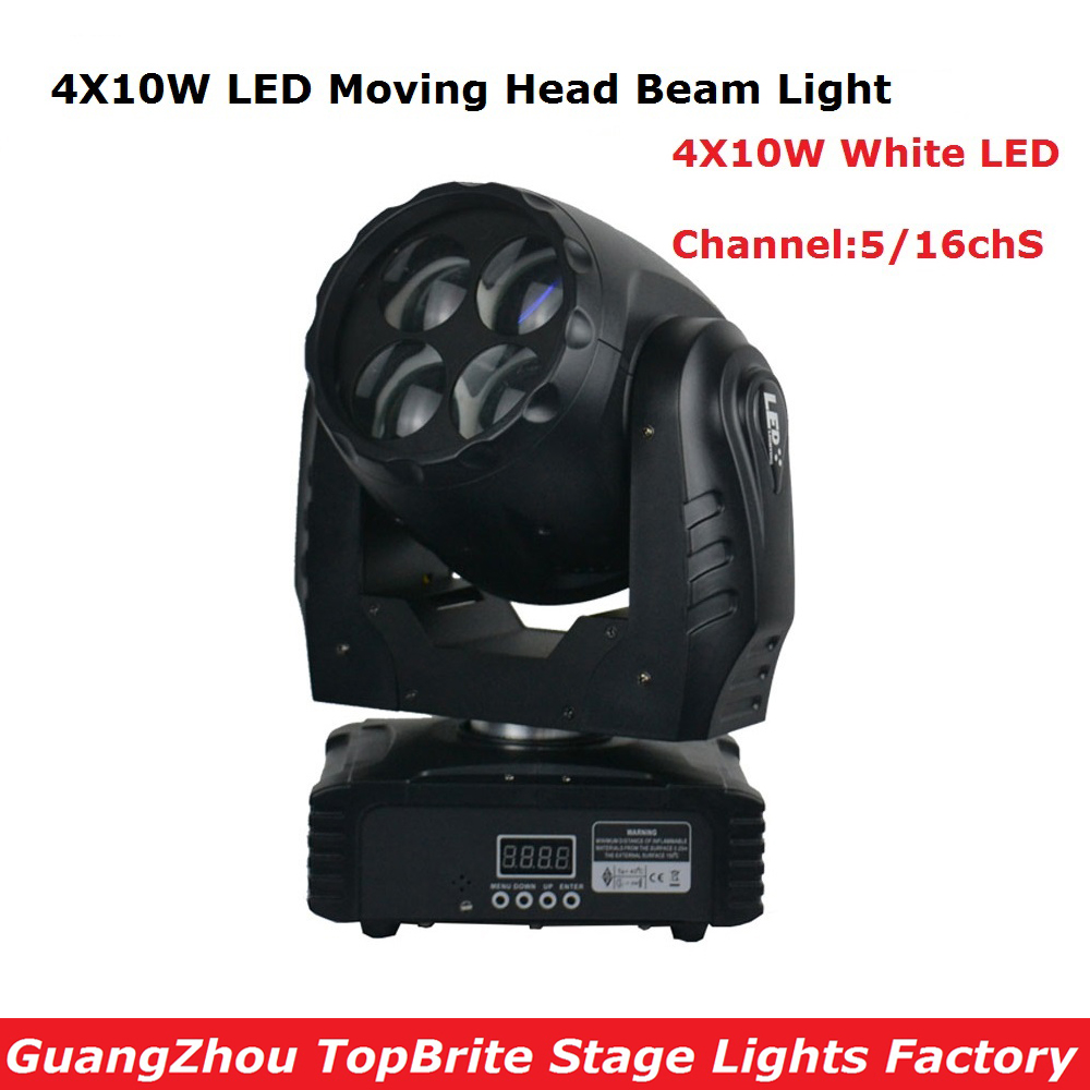 Meilleur prix 4X10 W Super faisceau LED tête mobile lavage lumière haute qualité parfait effet de scène lumières pour DJ Disco KTV boîtes de nuit