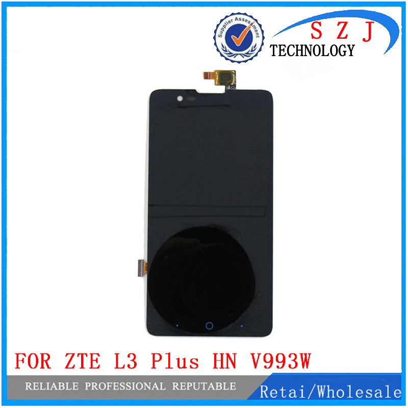 New FOR ZTE Blade L3 Plus HN V993W LCD Display with Touch Screen Assembly Replacement Parts Free shipping grade aaa quality 2pcs lot without bad pixel 2016 new lcd for samsung a5100 display with touch screen replacement free shipping
