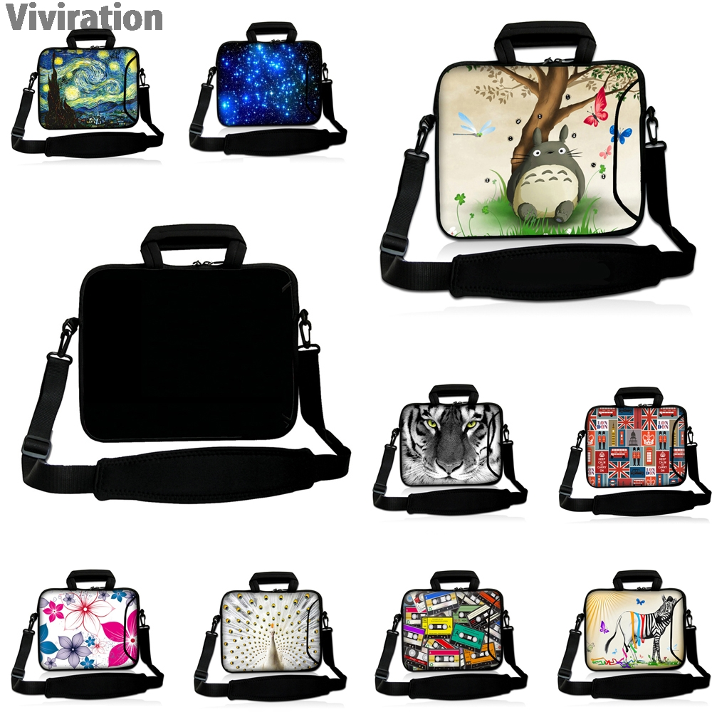 Viviration Womens Handle Notebook Bag 10 12 13 14 15 17 Laptop Messenger Carry Bags Cover Case Mens Computer Briefcase