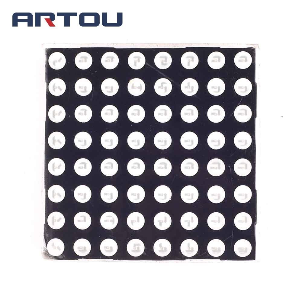10PCS 8x8 Mini Dot Matrix LED Display Red Common Anode Digital Tube 5mm DIY Electronic Kit For Arduino
