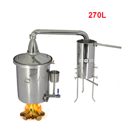270L NEW 304 Stainless Steel Wine Brewing Machine Distiller Liquor Fermented Distillation Wine Making Equipment Commerci