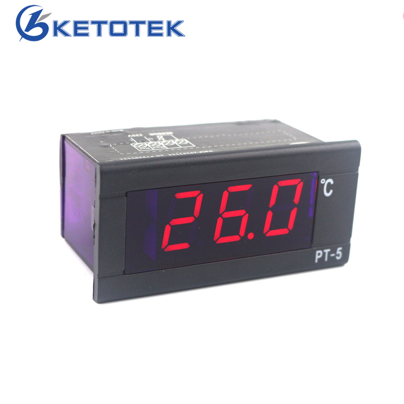 цена на PT-5 Thermometer AC 230V 220V Digital Temperature Meter -40~110C Thermometer with 2m Temperature Sensor LED Display