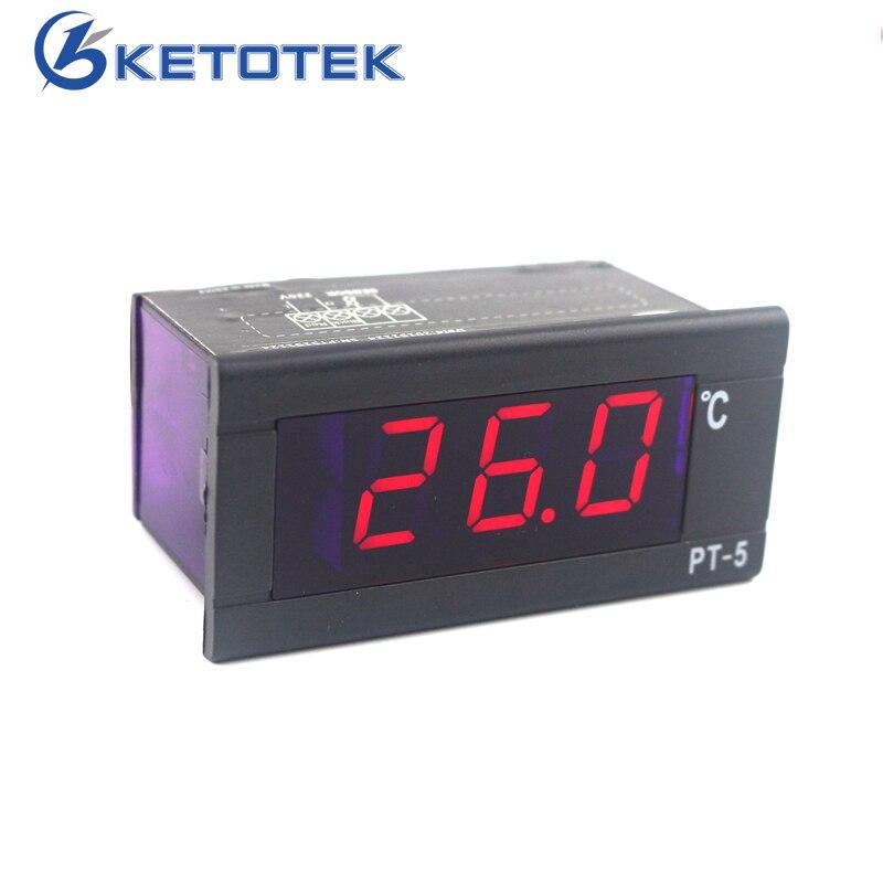 PT-5 Thermometer AC 230V 220V Digital Temperature Meter -40~110C Thermometer with 2m Temperature Sensor LED Display недорого