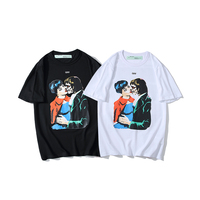 19ss Off White OW Vampire kissing arrow Men/Women Couple Lovers models Cotton Fashion Casual Short sleeve Round neck T shirt