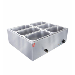 220V/1600W Heat Preservation Soup Pot Commercial Canteen Food Electric Bain-marie Heating Furnace Stainless Steel Soup Pot EH-6