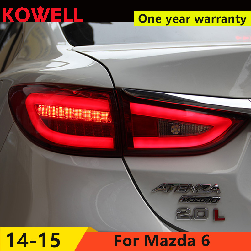 KOWELL Car Styling forMazda6 Tail Lights 2015 New Mazda 6 Atenza LED Tail Light Orignal Design