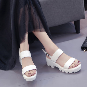 Image 2 - COOTELILI Women Platform Sandals Wedges Summer Shoes For Woman Casual Open Toe Sandles Women Shoes Buckle Sandalias Mujer