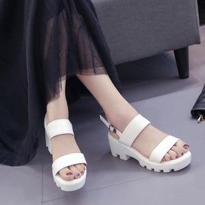 Image 2 - Cootelili mulher sandálias de plataforma cunhas sapatos de verão para mulher casual dedo do pé aberto sandalias sandalias mujer