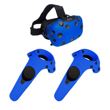 For HTC Vive Headset VR Accessories VR Glasses Helmet Controller Handle Case Skin Shell Virtual Reality Silicone Case Cover цена и фото