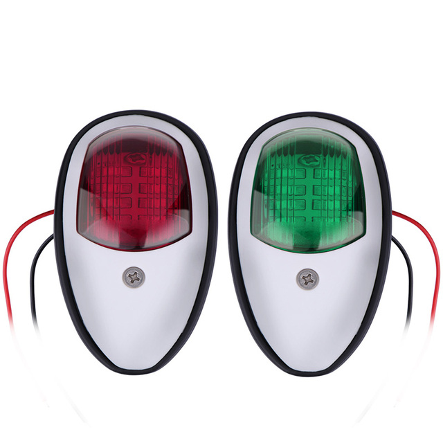 1Pair Marine Boat Yacht LED Navigation Light 12V Red Green Starboard Port Lamp Boat Accessories