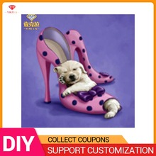 YIKELA 5D DIY Cross Stitch Animal Puppy High Heel Diamond Painting Full Drill Round Embroidery Picture Mosaic Decoration New