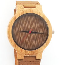 Bamboo Wood Watches For Men  Women Quartz Analog Casual High Quality Fashion wooden GKL-Bamboo-008