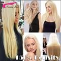 150% Плотность 613 блондинка полный шнурок волос парики с волосами младенца малайзийский Прямо Девы Волос Цвет 613 фронта шнурка человеческих волос парики
