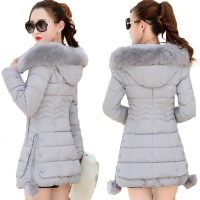 2018 Faux Fur Parkas Women Down Jacket Plus Size Womens Parkas Thicken Outerwear hooded Winter Coat Female Jacket Cotton padded