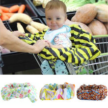 Baby Kids 2-IN-1 Shopping Cart Cover High Chair Cover For Toddler Cover Restaurant Highchair Dinosaurs 6-18months(China)