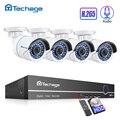 Techage H.265 8CH 1080 P POE NVR CCTV система безопасности набор 2.0MP аудио звук Запись IP камера P2P Открытый комплект видеонаблюдения