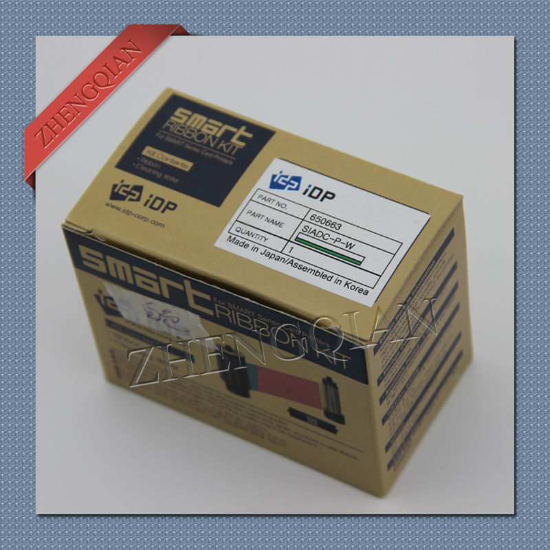 original IDP smart 650663 SIADC-P-W white card pritner ribbon for use with the smart pritners