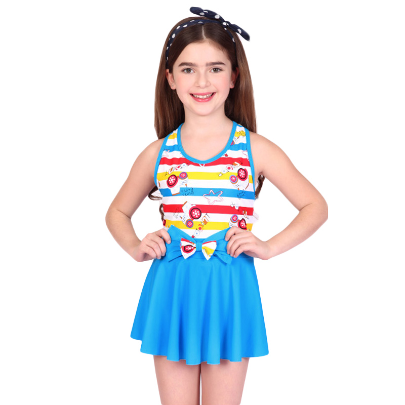 Summer bathing suit one piece 6 16 girls swimwear swimming wear child swimsuit solid for kids ...