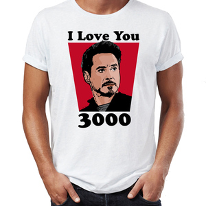 Men's T Shirt Tony Stark I Love You 3000 Ironman Endgame Feat Cute Daughter Fe Awesome Artwork Printed Tee