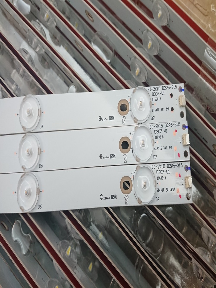 New Kit 3pcs 7LED 615mm LED Strip For LBM320P0701-FC-2 32PFK4309-TPV-TPT315B5 32PFK4309 32PHS5301 TPT315B5 LB-F3528-GJX320307-H