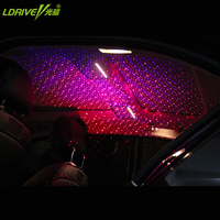 New USB Projector Light Portable Car Interior Decorative Lamp Red blue/Red green Laser Ceiling Starlight Atmosphere Lighting