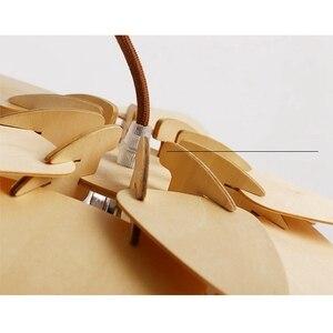 Image 4 - Moderna Lampade a sospensione Pigna Lampada Della Cucina per la Sala Da Pranzo Soggiorno Ristorante LED Illuminazione Loft Vintage Lampada In Legno