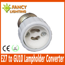 5 pcs/lot E27 to GU10 light lamp extension socket base holder for led bulb Lamp Holder Converter socket adapter converter holder(China)