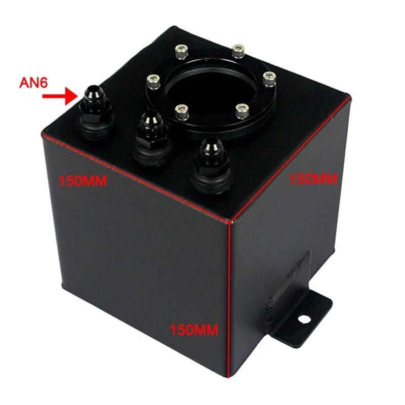 Réservoir de montée subite de carburant en aluminium de billette d'an6 2L/réservoir de montée subite d'an6 avec le noir de garnitures - 3