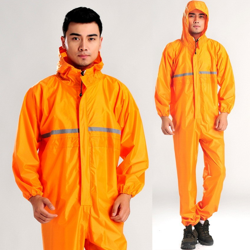 Conjoined raincoats, overalls Electric motorcycle fashion raincoat, men and women fission rain suit1