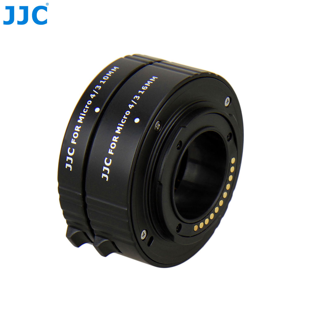 JJC Metal Auto Focus Tube Bayonet Mount Lens Adapter Ring For Olympus/Panasonic Micro 4/3 Four ThirdsMount 10mm+16mm Extension