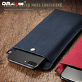 Dr. case bag case para iphone 5 5s se 6 6 s 7 7 plus corteza de cuero de grano monedero universal cubierta de bolsa para samsung xiaomi huawei mate 9