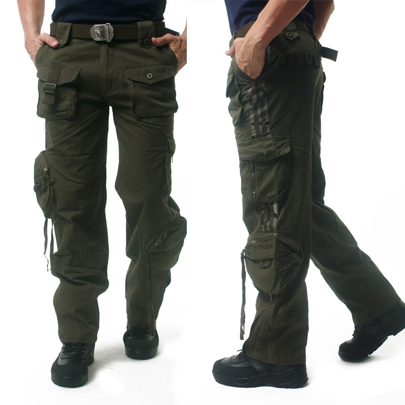 Army Cargo Men Military Style 101 Airborne Tactical Pants Loose Heavy Multi-Pockets Commado Full Length Fashion Work Trousers mens work pants safety pants military more pockets zipper trousers outdoors overalls army pants electrician auto repair workers