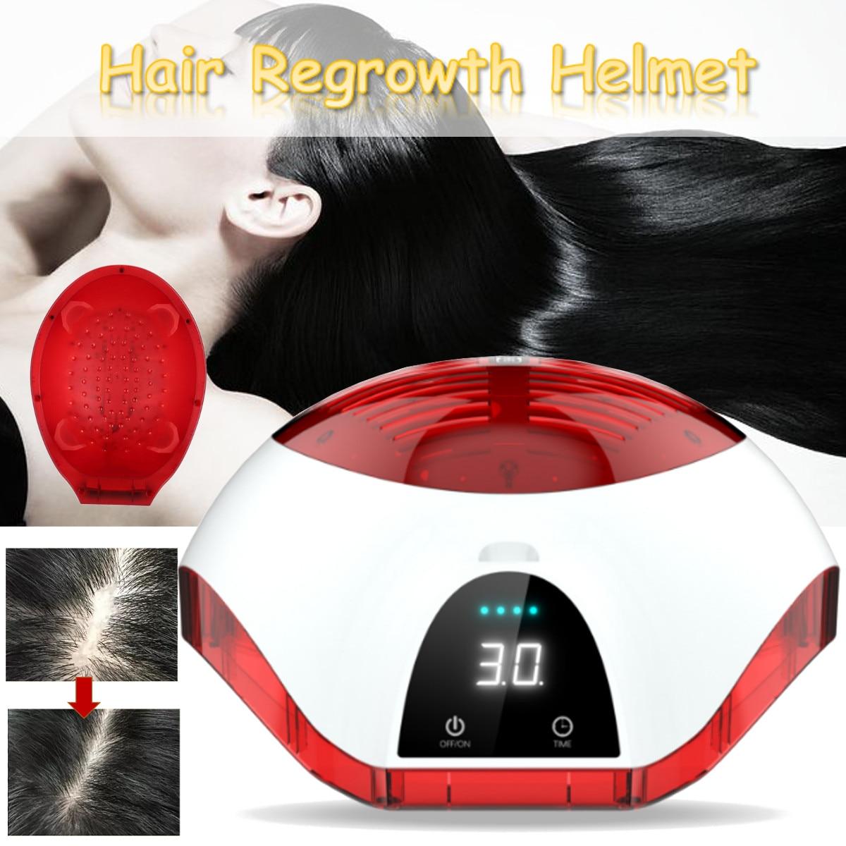 Affichage LCD thérapie Laser casque de croissance des cheveux Anti perte de cheveux dispositif de traitement Anti perte de cheveux promouvoir la repousse des cheveux chapeau Massage