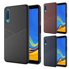 For Samsung A92018 Mobile Shell Business S7 8 9 PLUS Leather TPU Cover A72018 All Inclusive S10 E S10plus S7edg Drop Soft