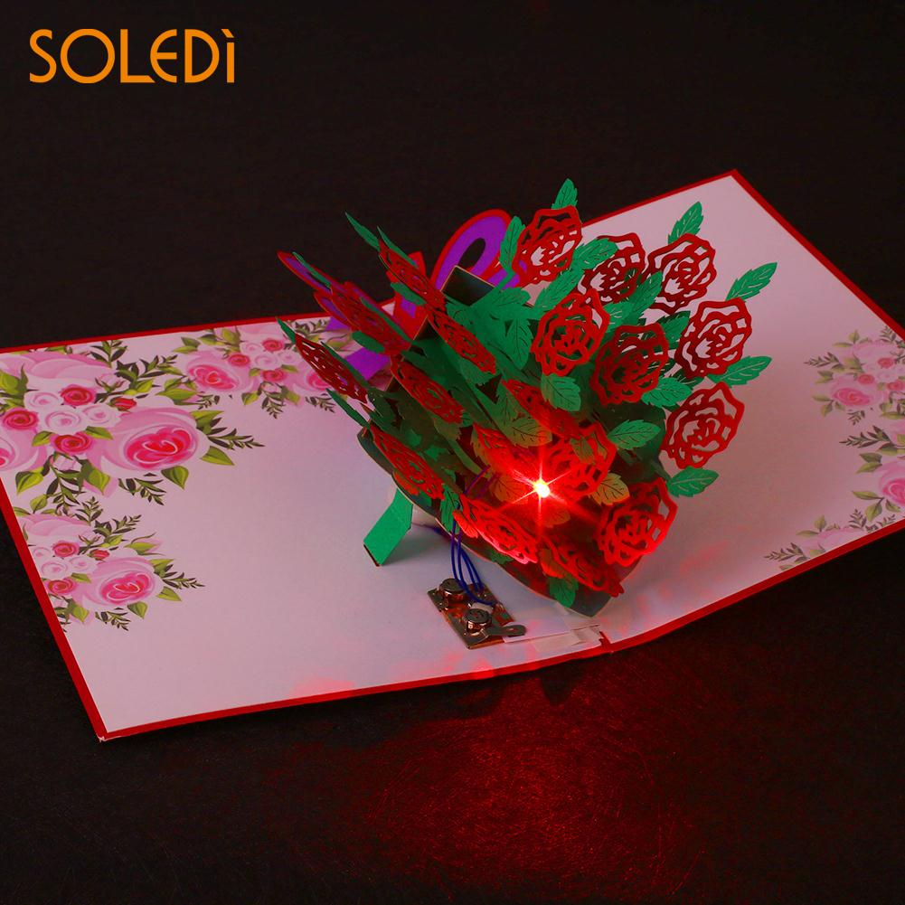 Fashion Design 3d Pop Up Music Guitar Greeting Card Christmas
