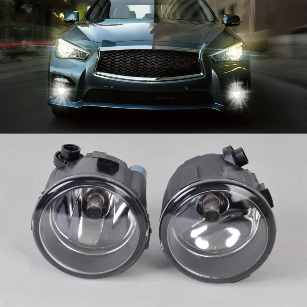 ФОТО 2X Right + Left Fog Light Lamp H11 Halogen 12V 55W Bulb Assembly 261508992B 261508993B For Nissan Murano Rouge Infiniti M37 Q70