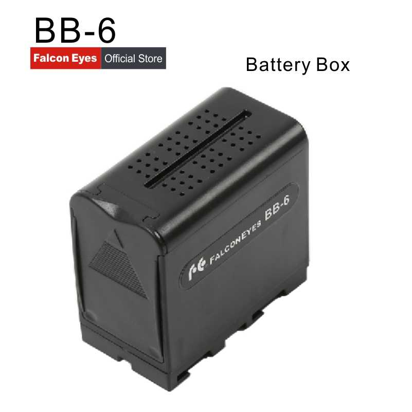 Power Als NP-F970 NP F970 Batterie Fall FALCON AUGEN BB-6 BB6 Box für 6 AA Batterie fit LED Video Licht lampe, monitor-Panels