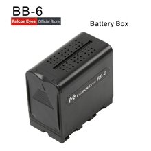Power As NP-F970 NP F970 Battery Case FALCON EYES BB-6 BB6 Box for 6 AA Battery fit LED Video Light Lamp, Monitor Panels