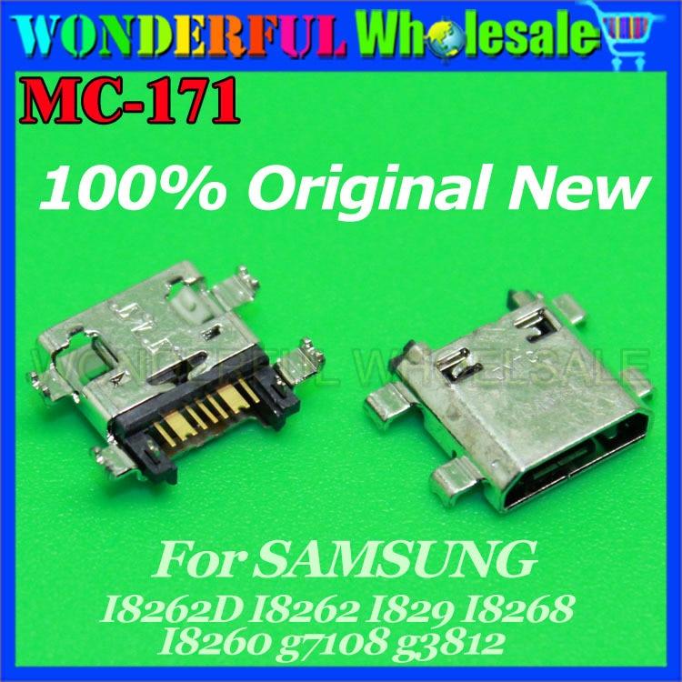 MICOR USB JACK CHARGING SOCKET For SAMSUNG I8262D I8262 I829 I8268 I8260 g7108 g3812 USB Charger Connector