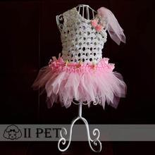 pet pure handmade pink wedding dress dog clothes wholesale dog clothes vestido para cachorro