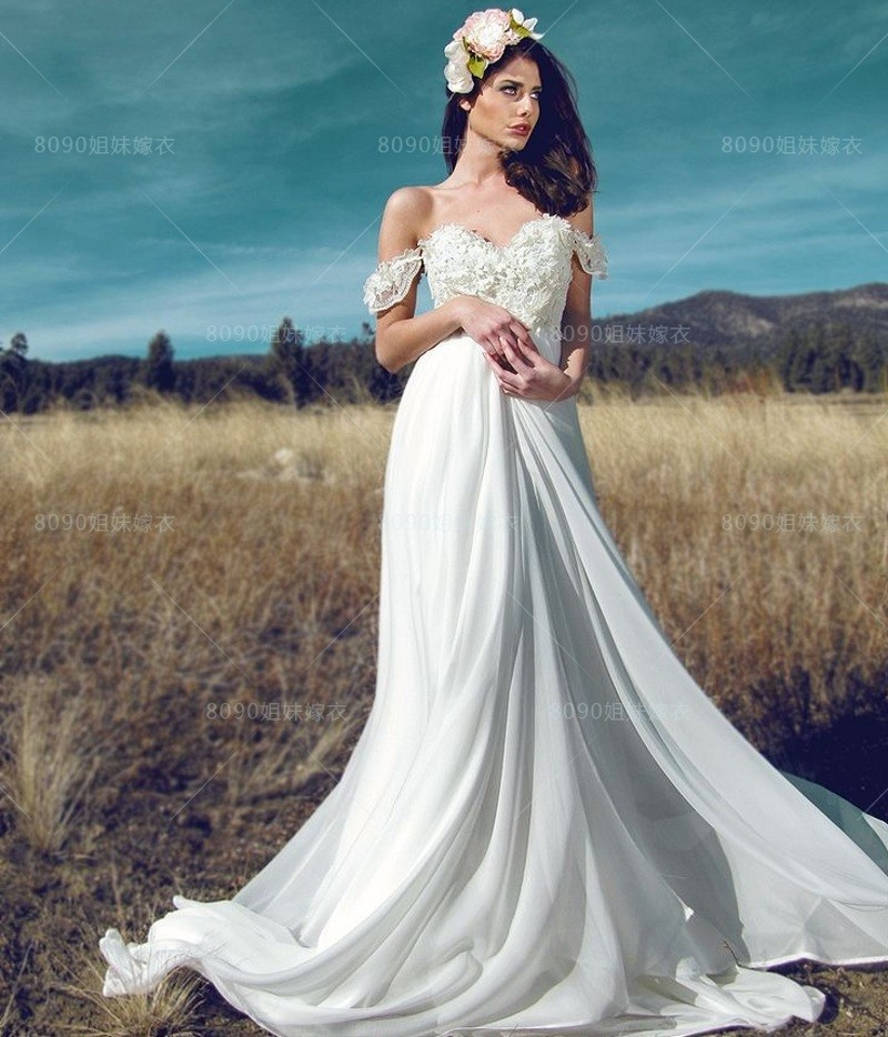 Us 100 0 2017 New Arrival Chiffon Beach Wedding Dresses Affordable Cheap Ivory White Bridal Gowns Robe De Marriage In Wedding Dresses From Weddings