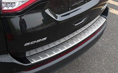 Rear Bumper Protector sill plate trim fit for FORD EDGE 2015 2016