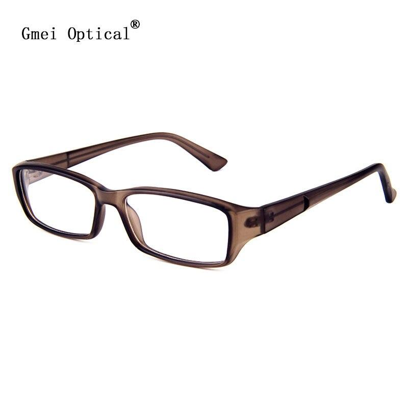 simplicity and handsome rectangle plastic full rim mens optical eyeglasses frames men glasses frame translucent brown