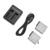 2x1220 mah batería + 1x batería baterias para gopro hero 5 ranura del cargador dual usb para accesorios de la cámara gopro hero5