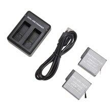 Bateria plus 1X Baterias para Gopro 2×1220 MAH Bateria Hero 5 Dual Carregador USB Slot para Acessórios DA Câmera Gopro Hero5