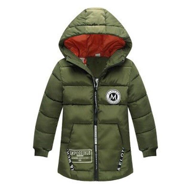 Kids Winter Jacket For Boy Warm Hooded Down jackets For Boys Jacket Teens Boy Zipper Coat Children Winter Clothing Boys Coat