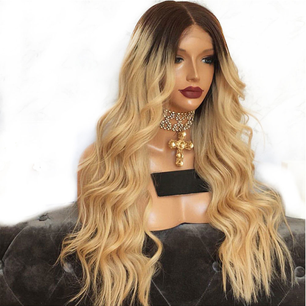 Atina 360 Lace Frontal Human Hair Wig Omber Color Wavy Wig With Baby Hair Pre Plucked Brazilian Remy Wig For Black Women A