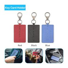 New Leather Key Card Holder Protector Cover Key Chain For Tesla Model 3 Key Card Holder Accessories uv ink printed barcode card and plastic member key card 3 part supply