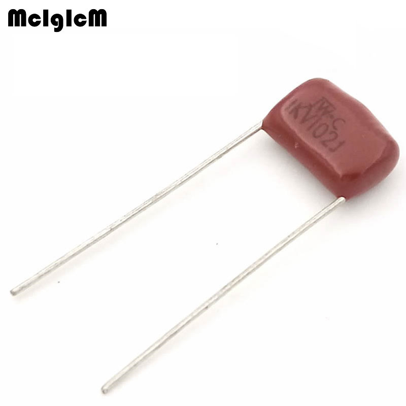 MCIGICM 1000 pcs 102 1nF 1000V CBB Polypropylene film capacitor pitch 10mm 102 1nF 1000V