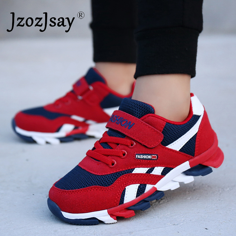 2019 Kids Running Shoes Spring Autumn Boys Blade Sports Shoes Trainers Athletic Lightweight Shoes Tennis Shoes Kids Sneakers